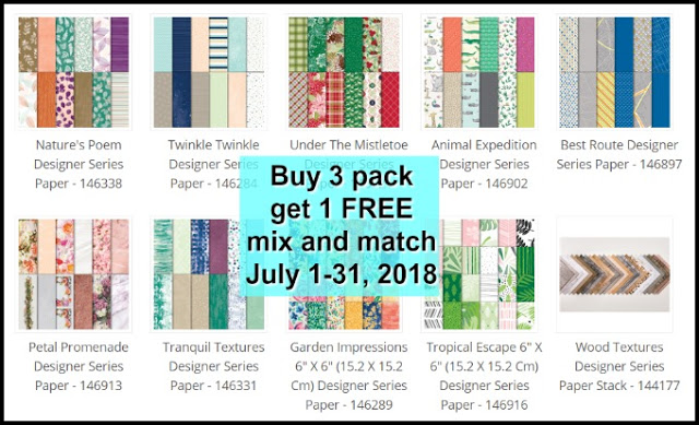 Stampin'Up! Designer series  Paper But 3 get 1 free, Frenciestamps.com