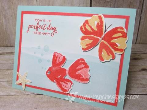 Punch Art Fish and Butterfly, Bunch of Blossoms, Builder Punch Stampin'Up!, frenchiestamps