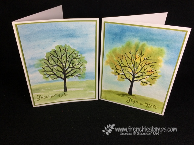Brusho, Watercolor, sheltering tree, stampin'up!,