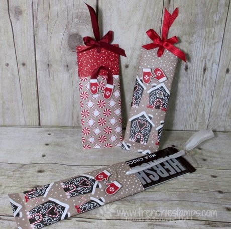 Christmas Chocolate bar easy wrap