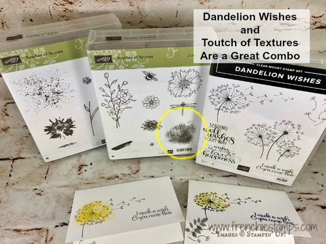 Dandelion Wishes, Touches of Texture, Stampin'Up!, Frenchiestamps,