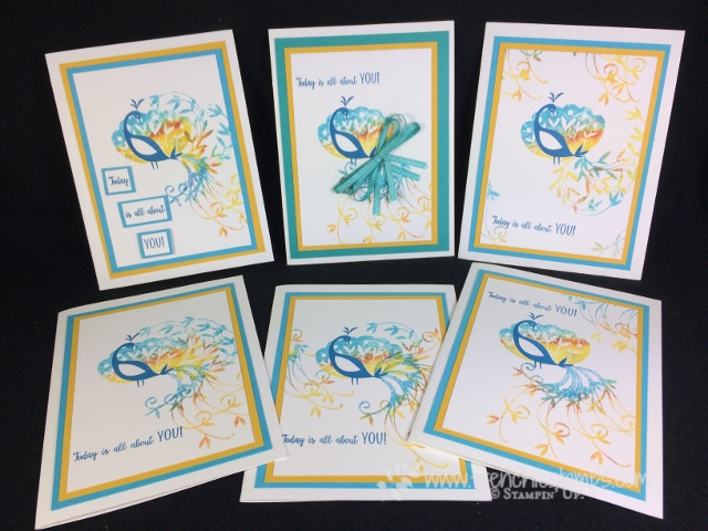 Beautiful Peacock, Baby Wipe Technique, Frenchiestamps, stampin'Up!