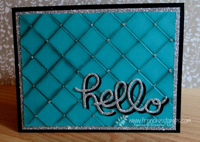 Quilt Card with Simply Scored Diagonal plate