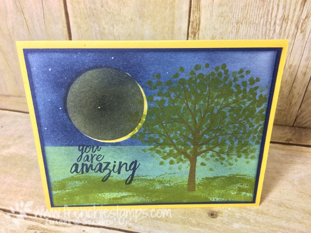 Solar Eclipse, Greeting Card, Solar Eclipse stamping, Sheltering Tree, All Things Thanks