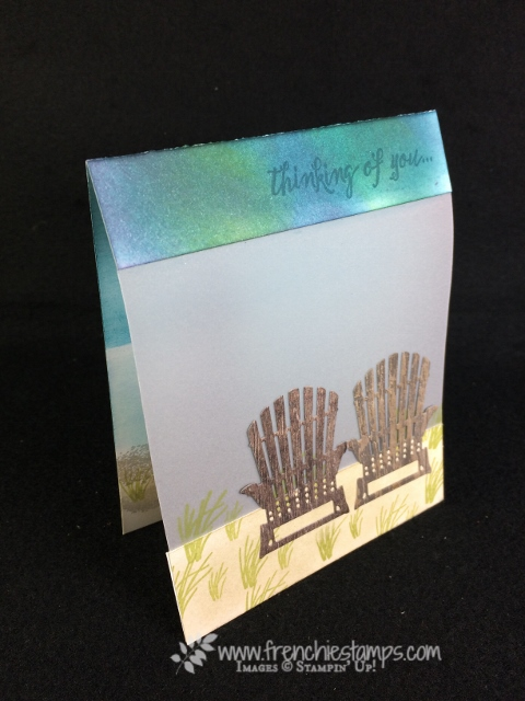 High Tide, Seasonal Layers Thinlits, Panel Card, Stampin'Up!, Frenchie Stamps,