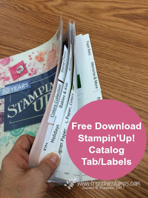 Stampin'Up! Catalog Tab, Frenchiestamps, Stampin'Up! 2018-2019 Catalog,