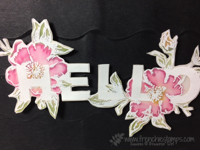 Floral Statements on Vellum, Ruffled Folder Stampin'Up!