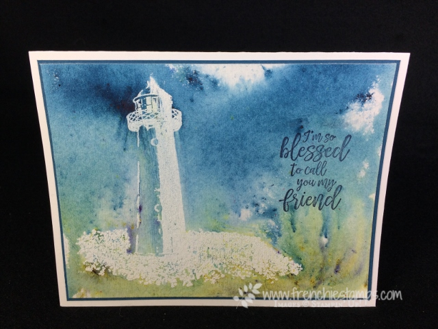 High Tide, Brusho, Stampin'Up!, Frenchie Stamps,