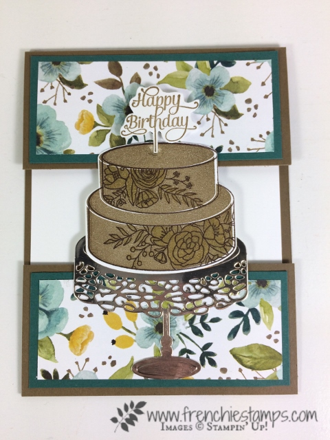 Cake Soirée, Open Panel Card, Frenchie Stamps, Stampin'Up!