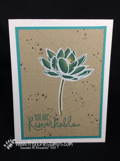 Stampin'Blends, Alcohol Markers on Crumb Cake cardstock, remarkable you, Stampin'Up!, Dying jewels,