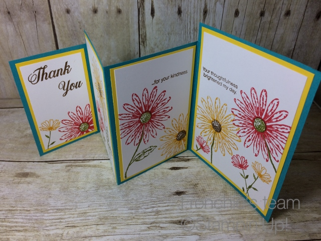 Delightful Daisy Stampin'Up! 4 panel cards