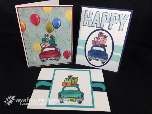 Wonderful Life, Birthday Cards, Blends, Happy Celebration, Frenchiestamps, Stampin'Up!, Birthday Memories Designer Series Paper,