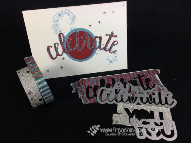 Die cut washi tape with framelits, Celebrate You Thinlits, Stampin'Up!