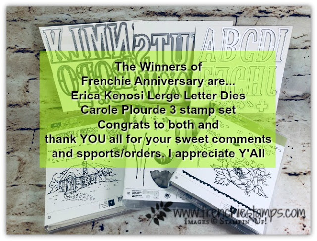 Frenchie Stamps Giveaways, Large Letter Die.