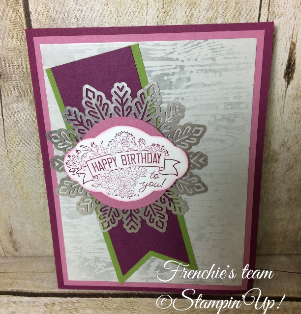 Glossy paper, Wax Resist emboss, Label me Pretty, Stampin'Up!