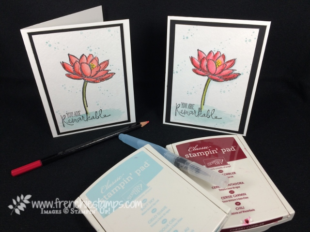 Watercolor Remarkable You, Stampin'Up!, Frenchiestamps,
