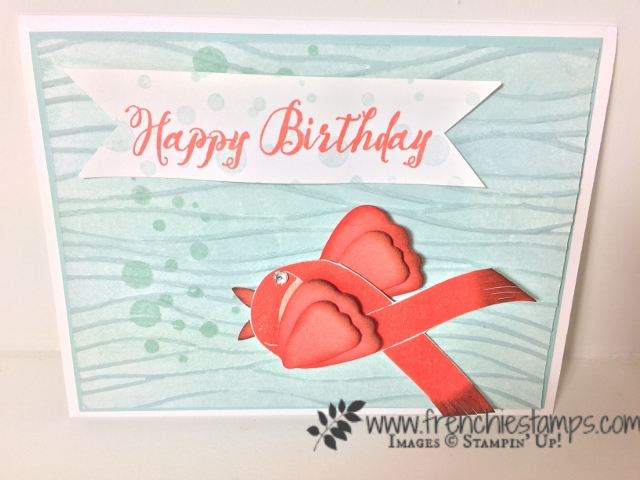 Fish with Ribbon of Courage, Stampin'Up!