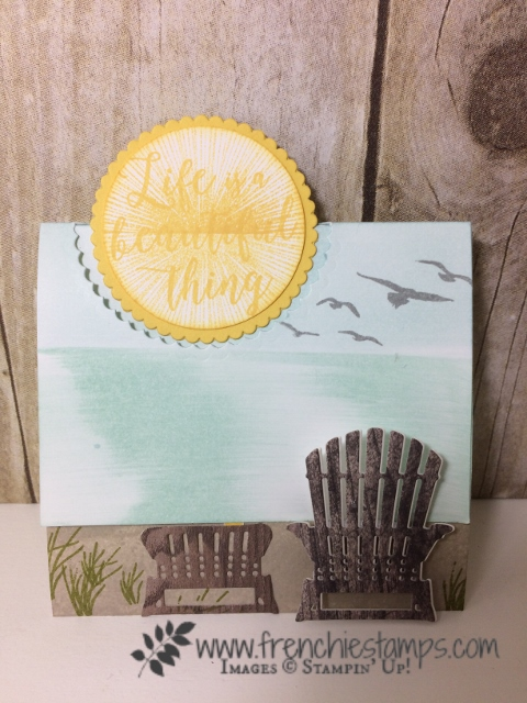 Fancy Fold, Flap Fold, Colorful Seasons, seasonal layers framelits, High Tide,  Stampin'Up!, frenchiestamps,