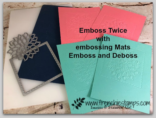 Twice the Emboss with Embossing Mats