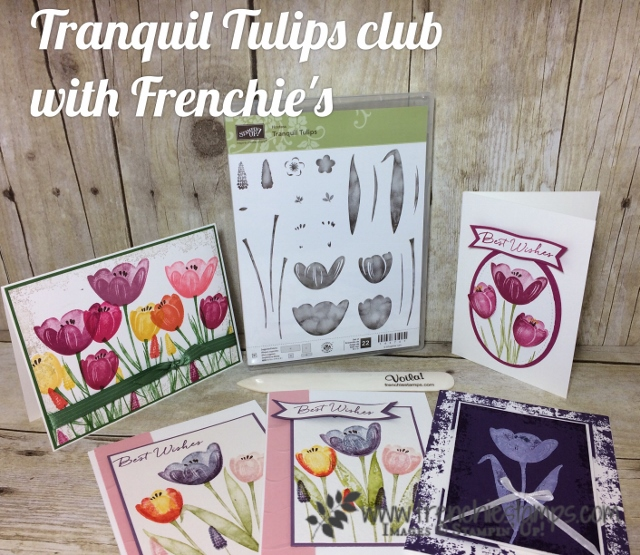 Tranquil Tulips, Stampin'Up! Easy Stamping, Stamping Clue online with Frenchiestamps