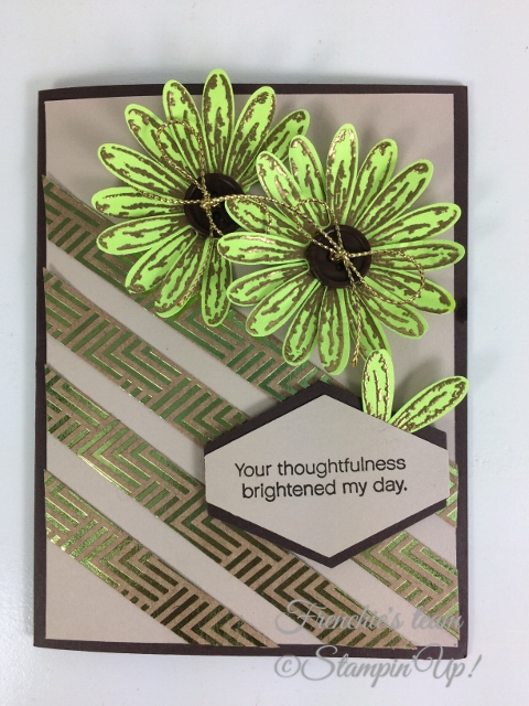 Frenchie' Team, Daisy Delight, Daisy Punch, Stampin'Up!, Foil Frenzy Designer paper,