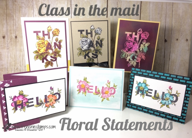 Floral Statements Class in the mail