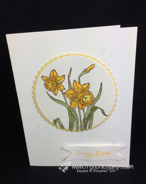 Brusho, You're Inspiring, Easter card, Stampin'Up!, Frenchie Stamps,