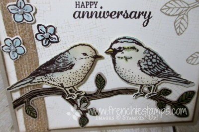 Best Birds, Birds and Blooms Thinlits, Stampin'Up! Anniversary Greeting Card,