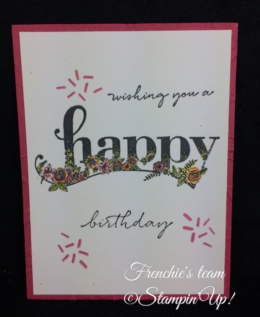 Happy Wishes, Sale a Bration and Occasion Stampin'Up! 2018, Frenchie stamps in the Spotlight,