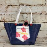 Beach Tote, Paper Bag, Frenchie Stamps Live Class,