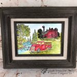 Watercolor Scenery Frame. Country Livin