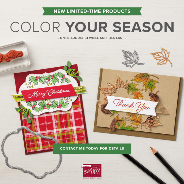 Color Your Seasons Bundle, Stampin'Up! Limited Edition,