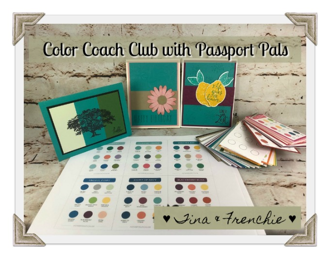 Color Coach Club, Passport Pals, Stampin'Up! Color Combination ,