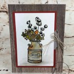 How to watercolor the milk can from the stamp set Country Home. Great fall card or could be for many occasion. All product are from Stampin