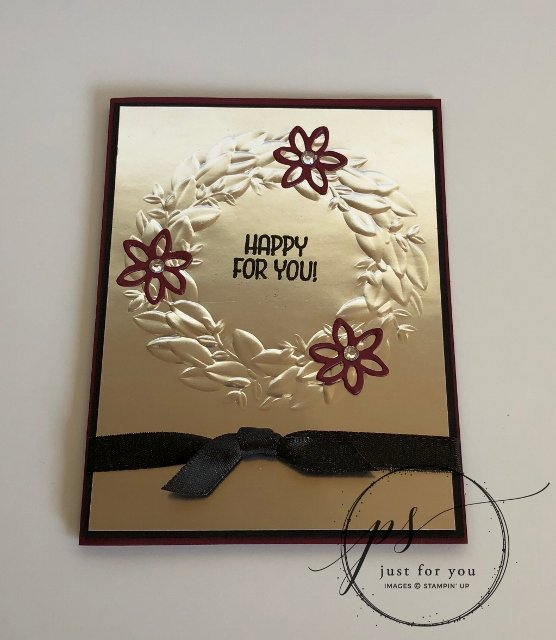 Silver Foil Seasonal Wreath