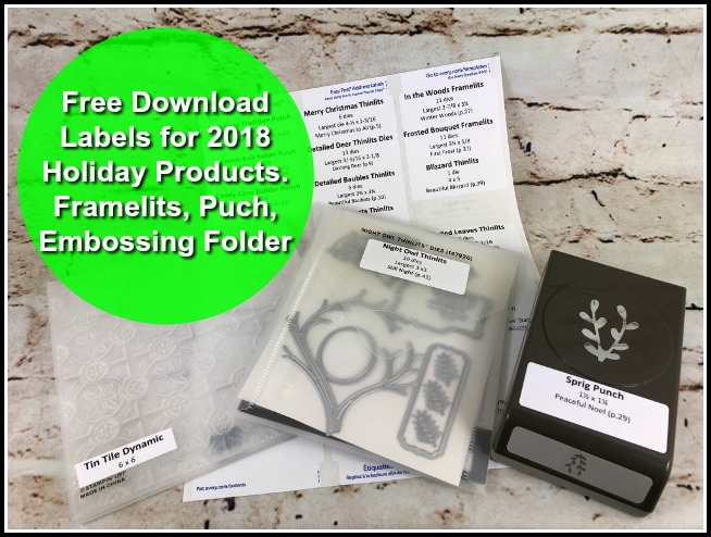 Organize your Stampin'Up!Holiday Products