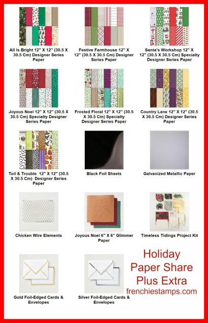 Holiday Designer Paper Share Plus