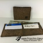 Faux Leather Wallet, One Wild Ride, DIY paper leather, Stampin