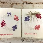 How to use the Seasonal Wreath embossing folder for many occasion. The Bouquet Bunch Framelits is a great combination with this folder. How to video and detail at frenciestamps.com. All product are by Stampin