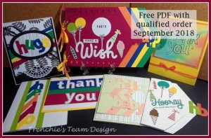 Get a free PDF with Frenchie Team customer Appreciation. This PDF include 7 projects using the Layering Alphabet Edgelits and the Lined Alphabet stamp set. Including a memory event book. All product are by Stammpin'Up! and can be purchase at frenchiestamps.com