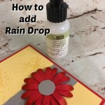 How to make rain drop on your lowers. Also would work for dew on flowers. Very simple with Stampin