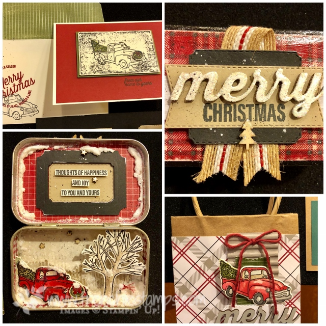 Come visit my blog at frenchiestamps.com for many Stampin'Up! 2018 Holiday Catalog sample. Farmhouse Christmas