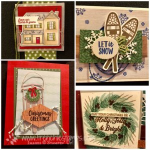 Come visit my blog at frenchiestamps.com for many Stampin'Up! 2018 Holiday Catalog sample. Peaceful Noel, Alpine Adventure,Farmhouse Christmas