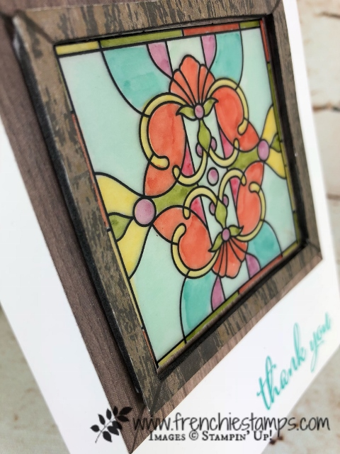 Graceful Glass Designer Paper, Stain Glass, Vellum, Love What You Do Stampin'Up! Stamp Set, Frenchiestamps,