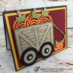 Learn how to use the Sliding Door Framelits to make a wagon also using the Swirly Scribbles for the pumpkins. All supplies are by Stampin