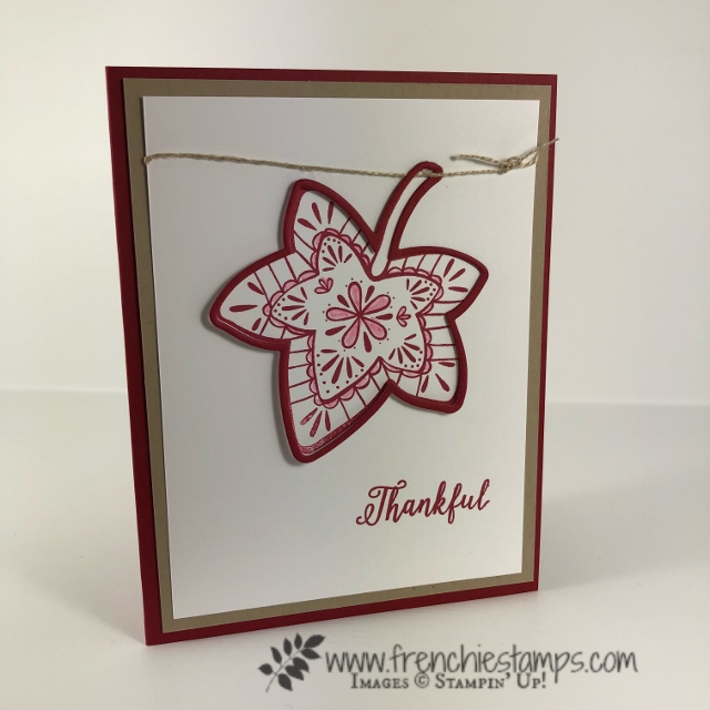 Fall cards from Leader Group swaps. Falling for Leaves. All supplies by Stampin'Up! and can be purchase at frenchiestamps.com