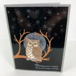 How to make a full moon with Shimmer Paint. Stamp set Still Night and Night Owl Thinlits. All product by Stampin