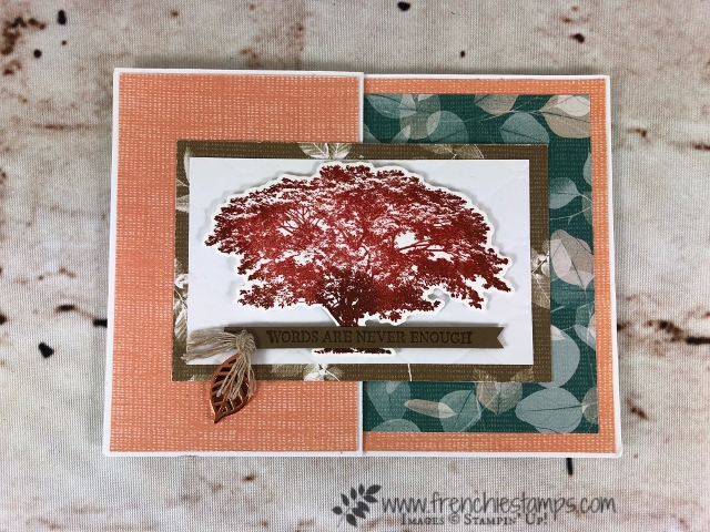 All about Fall Cards. Rooted in Nature Bundle, Leaves Trinkets.  All product are by Stampin'Up! and can be purchase at frenchiestamps.com