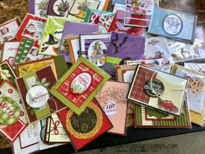 Stampin'Up! Holidays cards lots of them that I will share live on September 6th. Detail on my blog. frenchiestamps.com