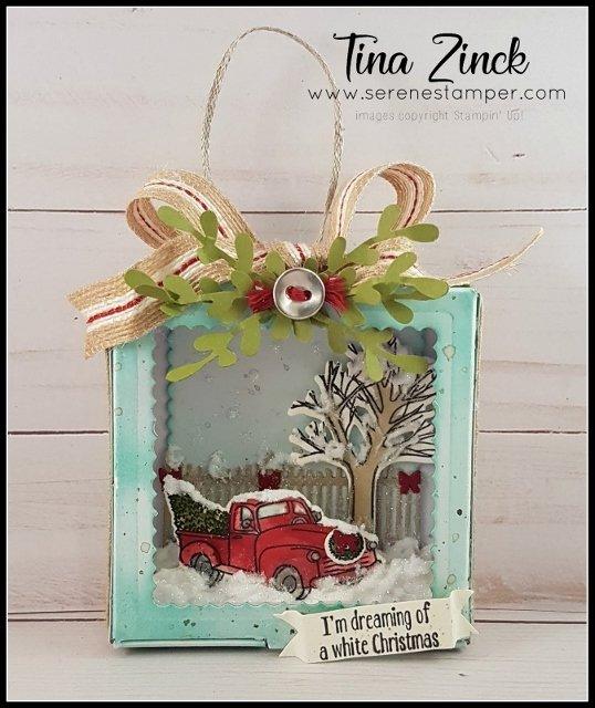 Festive Farmhouse Christmas Ornament by Tina